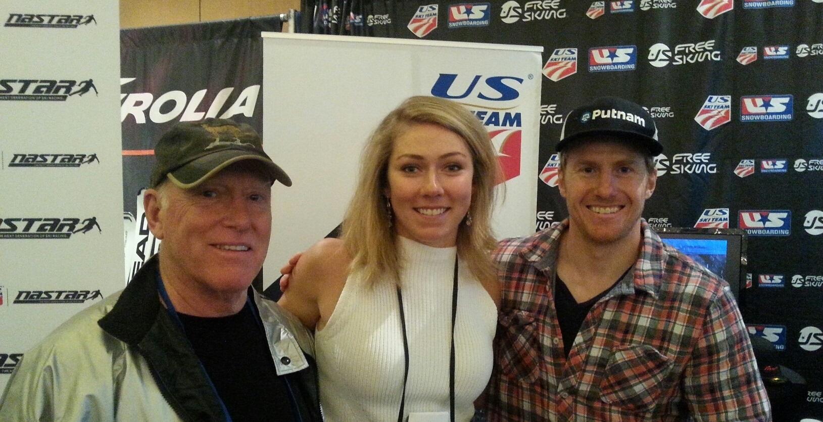 Cary with Mikaela Shiffrin, Ted Ligety